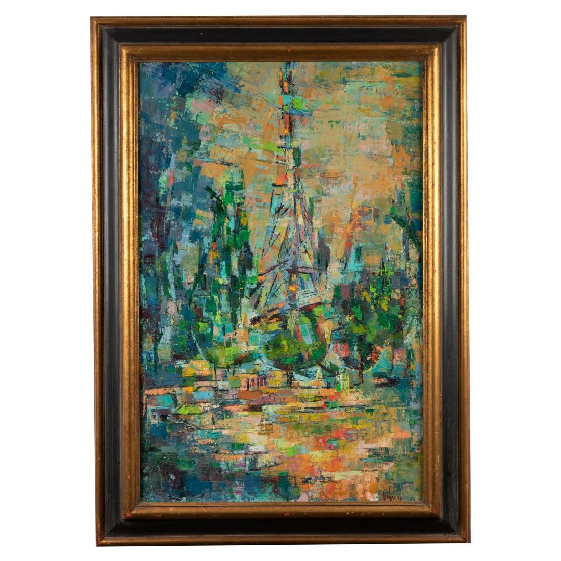 Oil on Canvas - Palette Knife -  Eiffel Tower