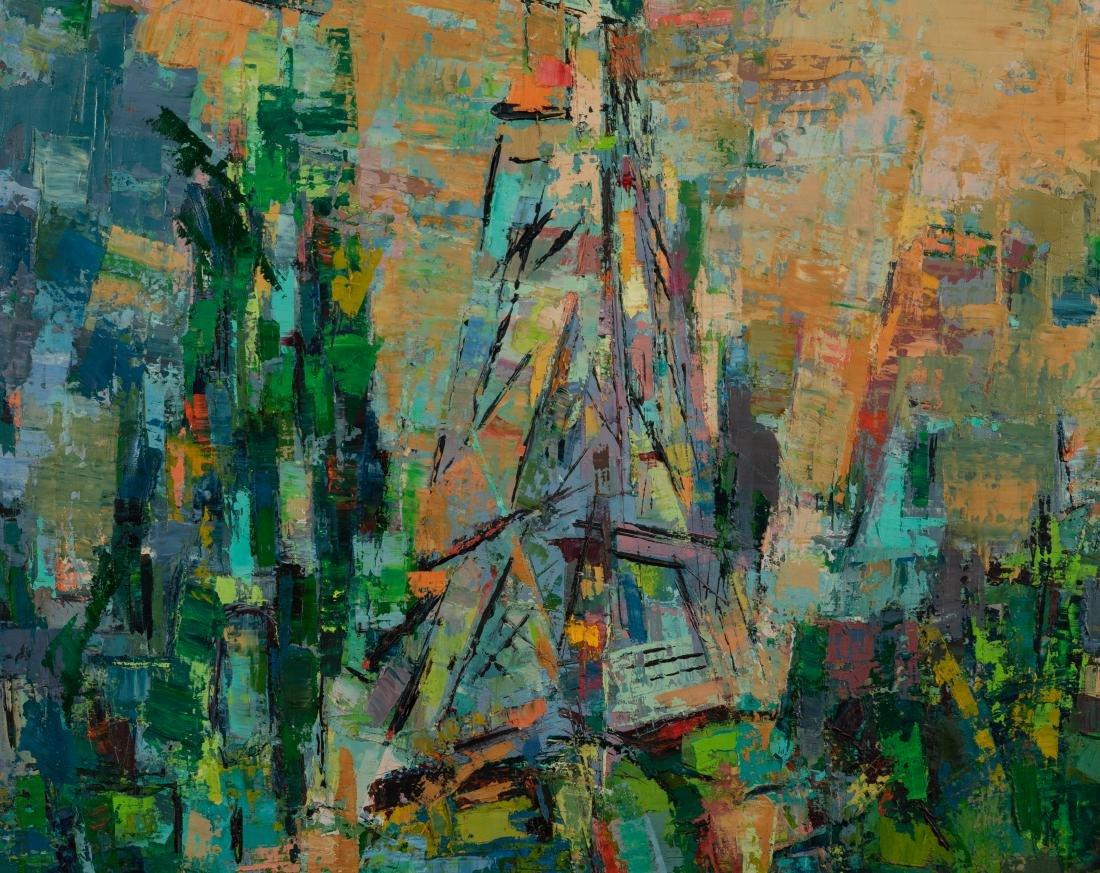 Oil on Canvas - Palette Knife -  Eiffel Tower - 2