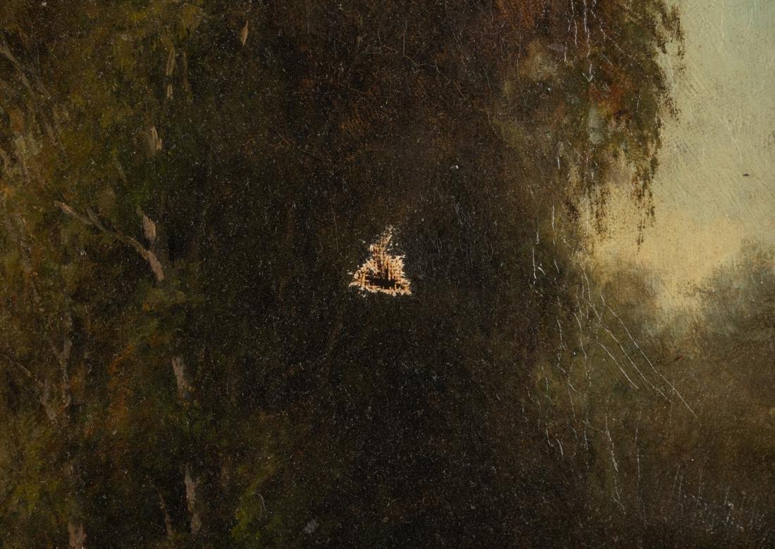 Victorian Oil on Canvas - Bridge in Landscape - 2