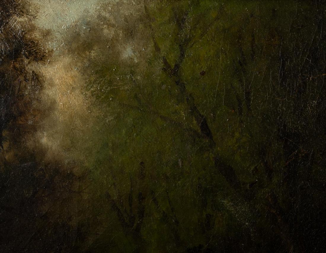 Victorian Oil on Canvas - Bridge in Landscape - 4