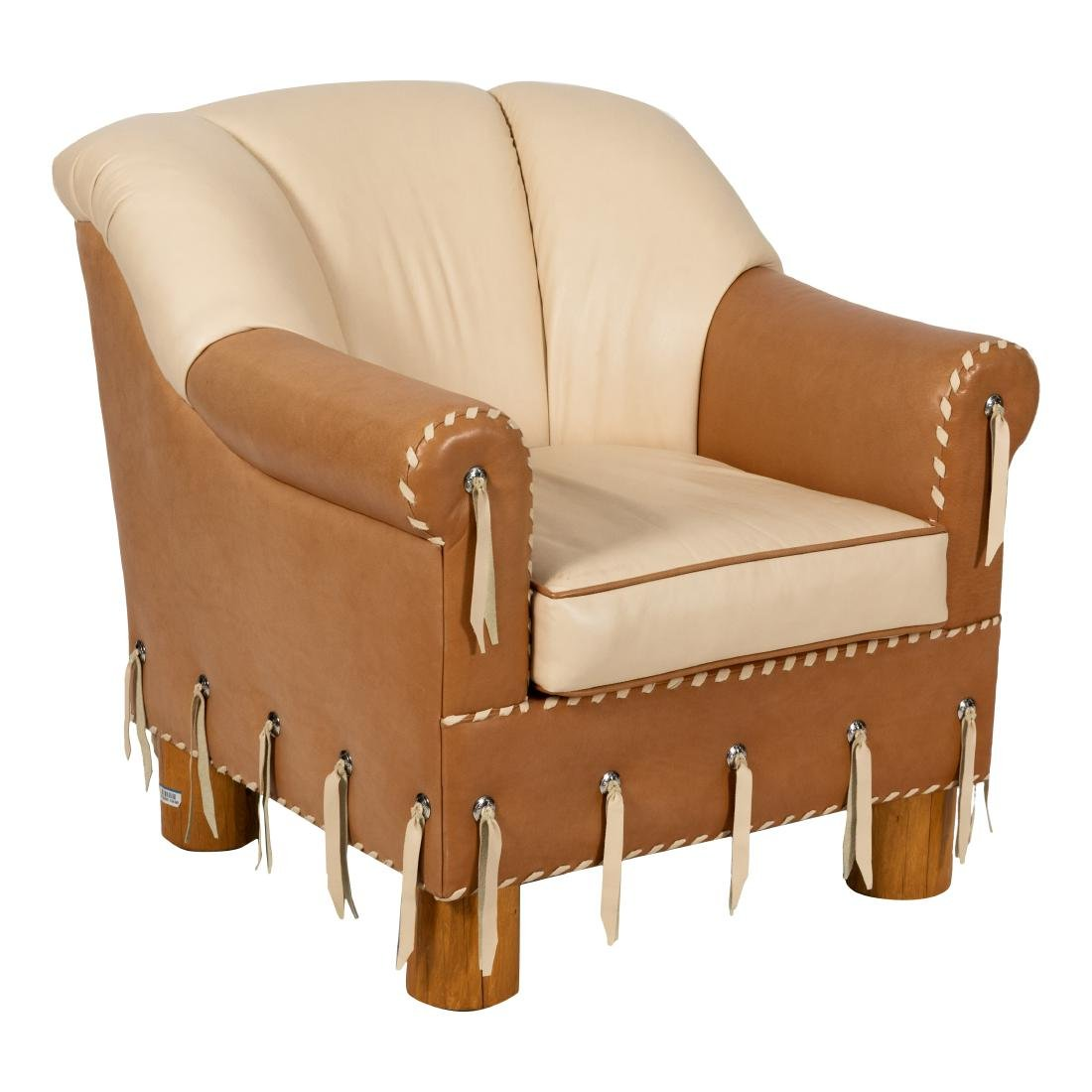 Southwest Style Leather Club Chair