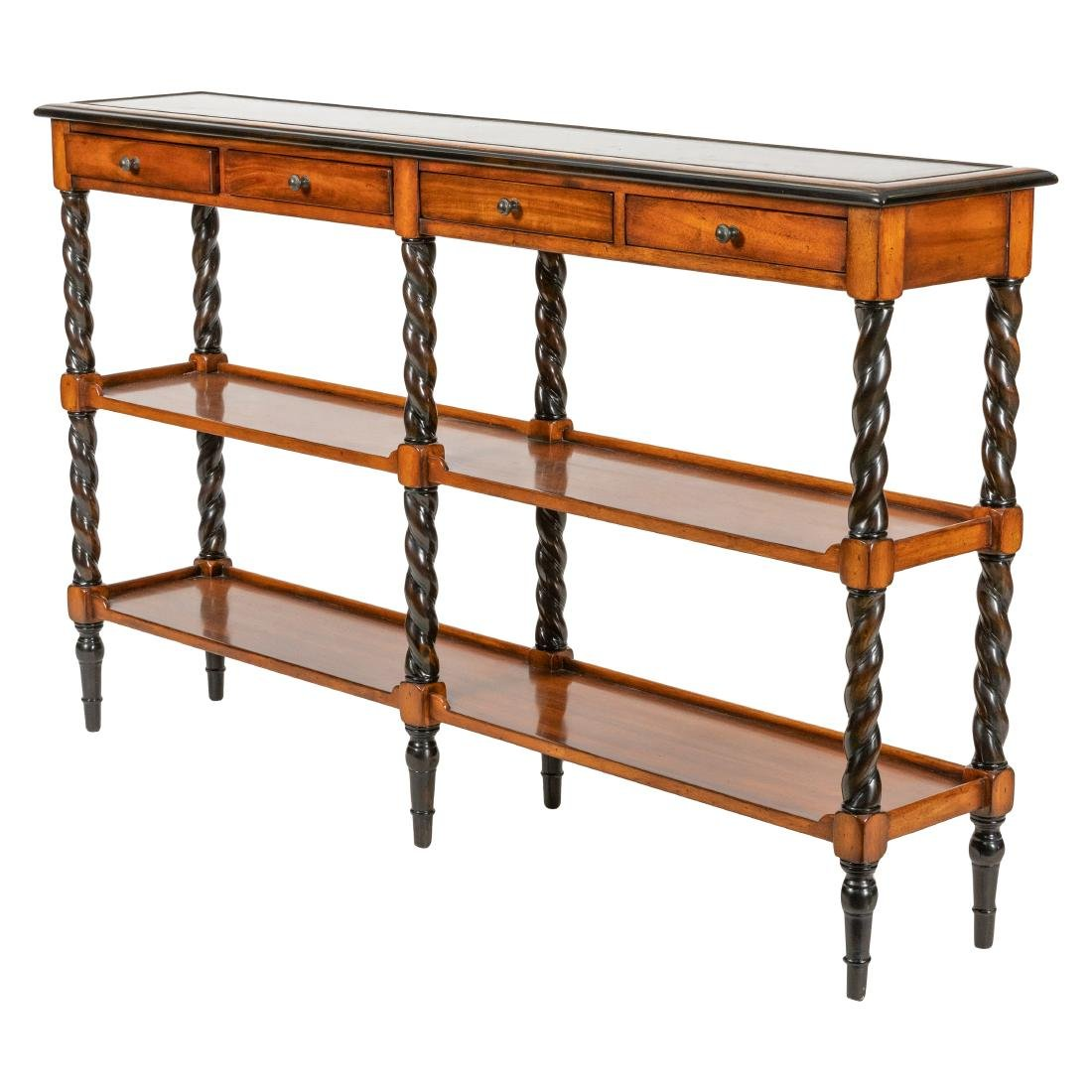 Mahogany Barley Twist Console Table