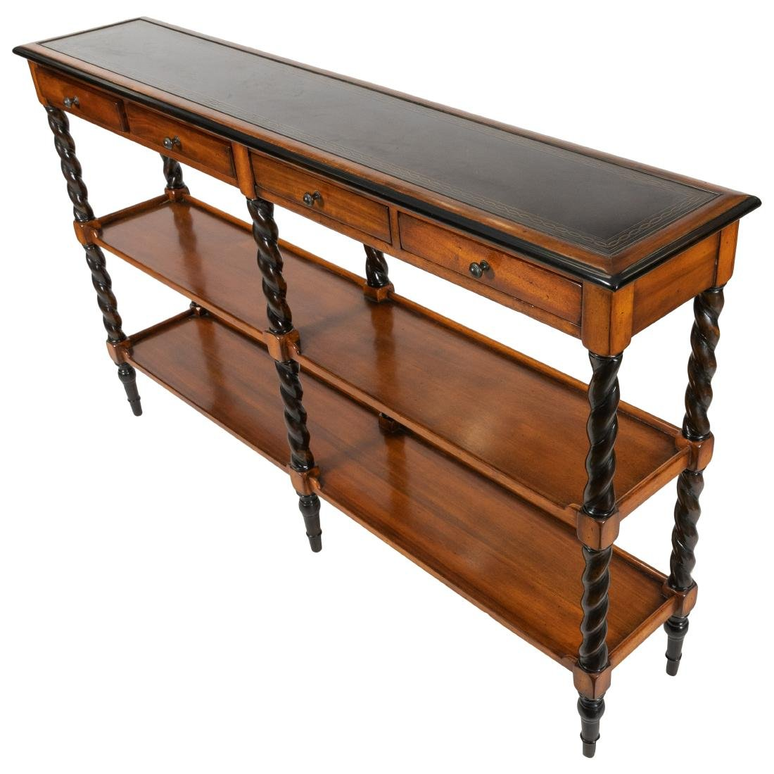 Mahogany Barley Twist Console Table - 2