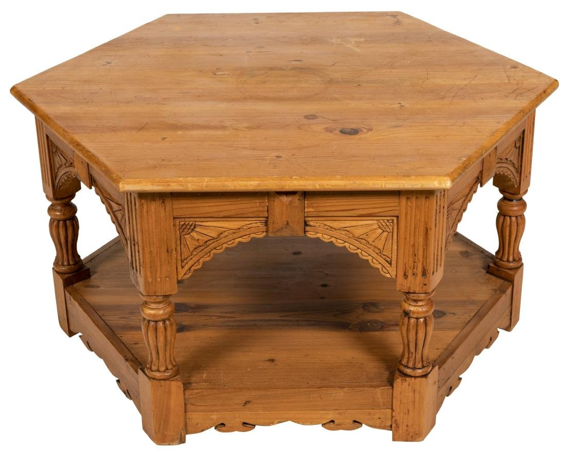 English Pine Octagonal Coffee Table