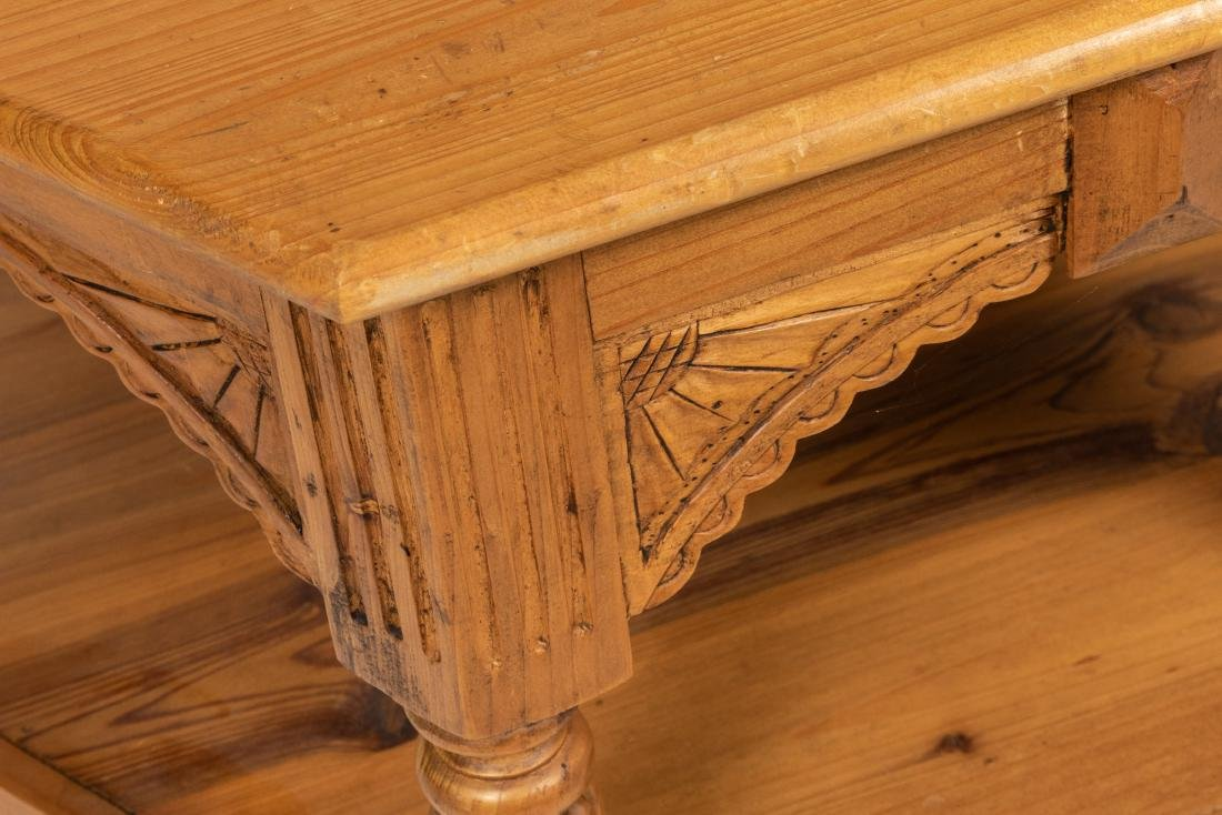 English Pine Octagonal Coffee Table - 2