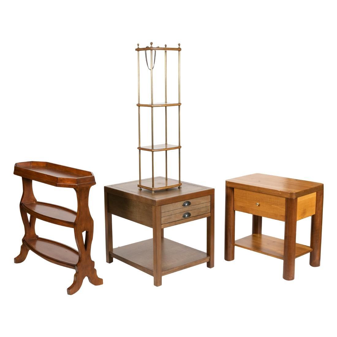Server - Brass Shelf - Two End Tables