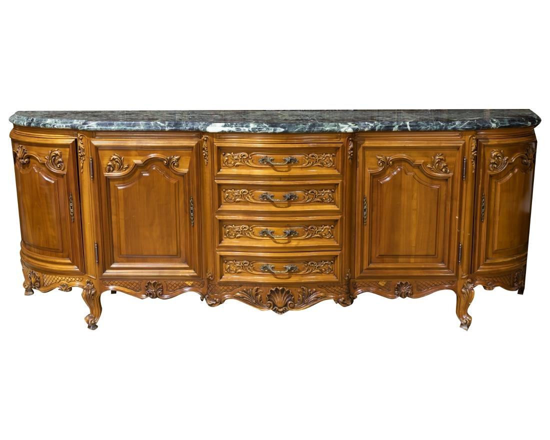 French Marble Top Sideboard