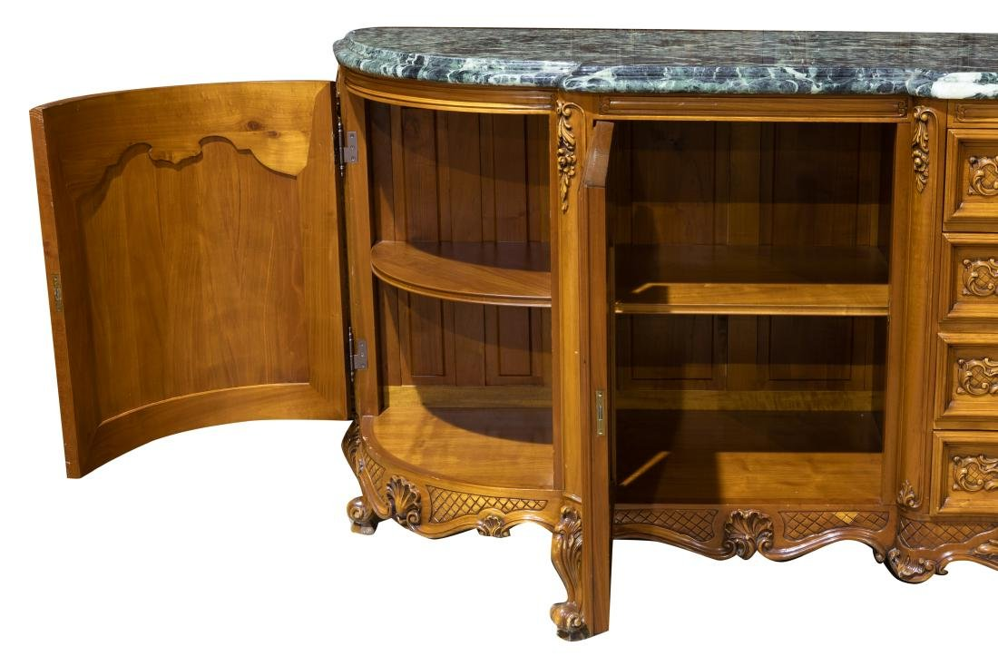French Marble Top Sideboard - 2