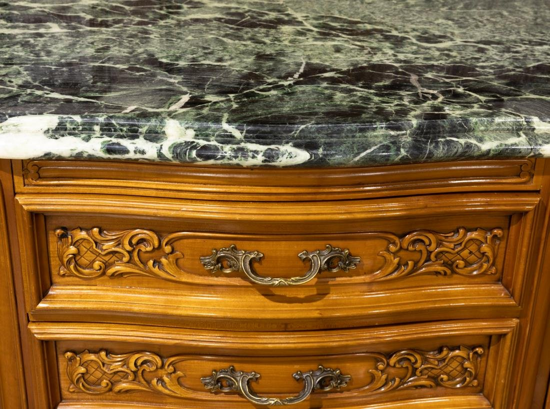 French Marble Top Sideboard - 3