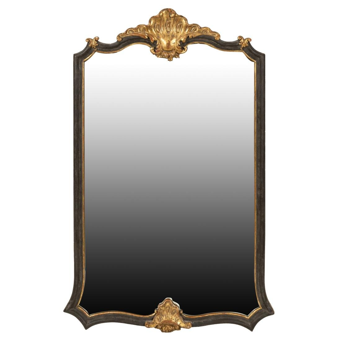 French Style Painted Mirror