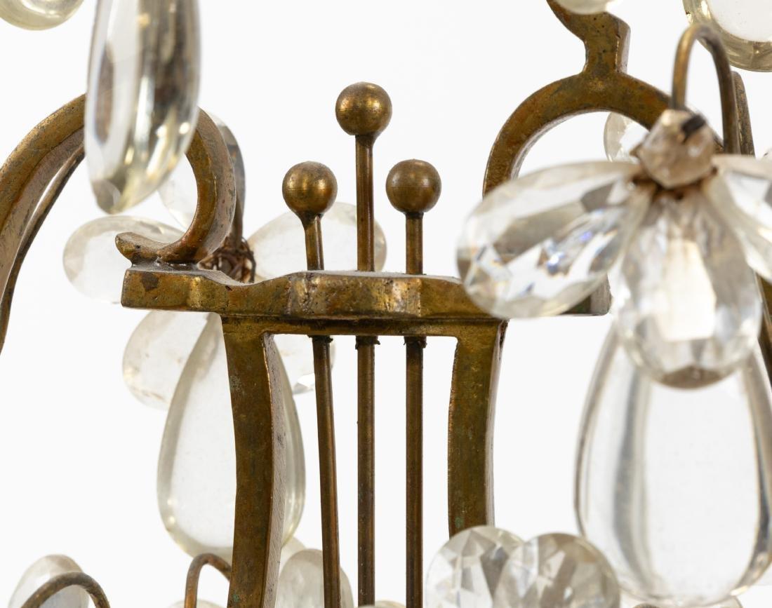 French Bronze, Marble & Crystal Girandoles - 4