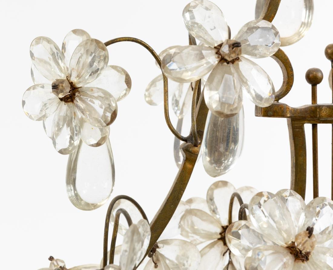 French Bronze, Marble & Crystal Girandoles - 5