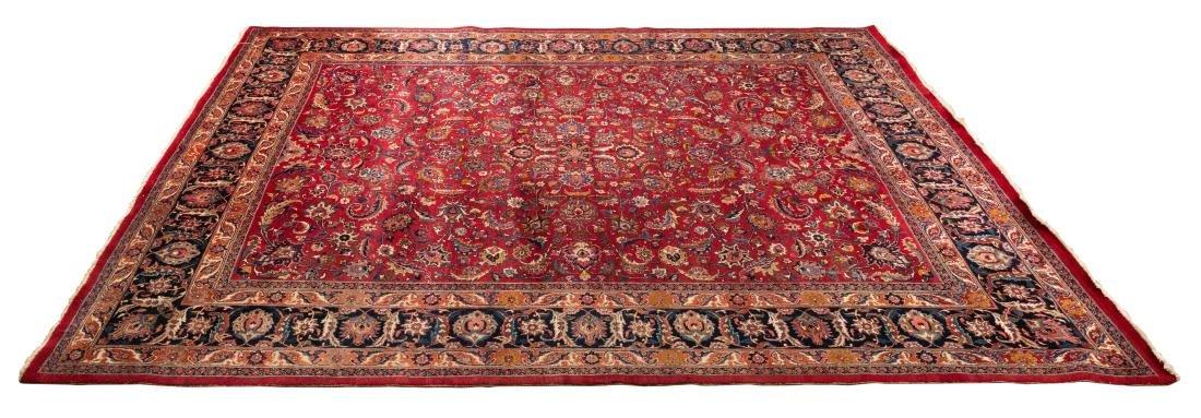 Oriental Rug - Red with Dark Border