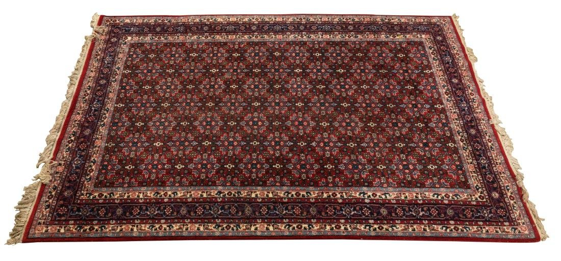 Oriental Rug - Blue and Red Border