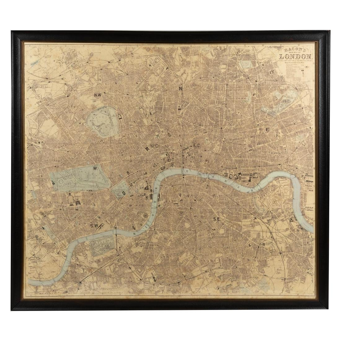 Reproduction London Map - Large