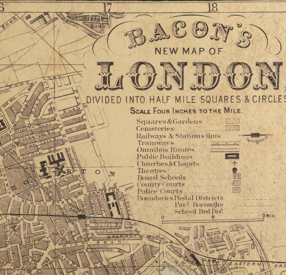 Reproduction London Map - Large - 3