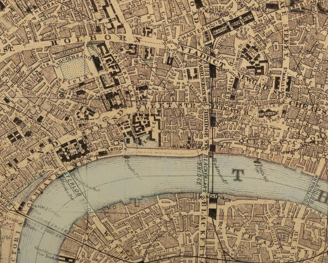 Reproduction London Map - Large - 4