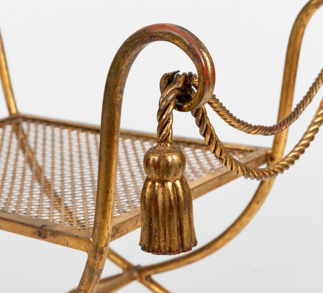 Gilt Metal Rope Tassel Bench - 2