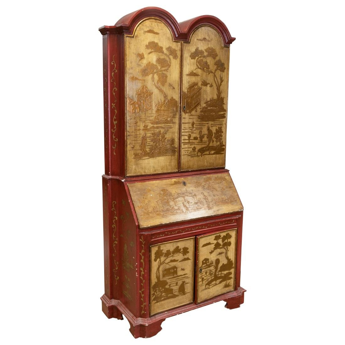 Venetian Chinoiserie Decorated Secretary