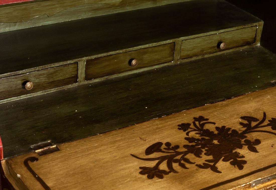 Venetian Chinoiserie Decorated Secretary - 3