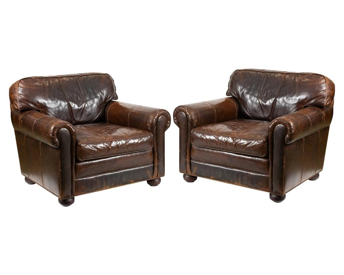 Restoration Hardware - Leather Club Chairs
