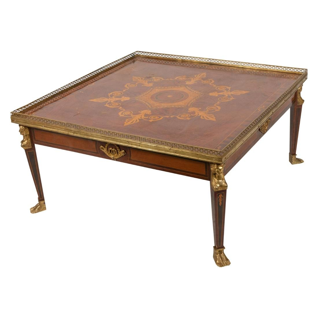 Inlaid Bronze Mounted Coffee Table