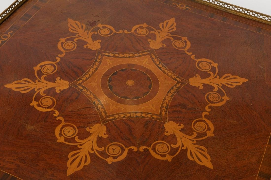 Inlaid Bronze Mounted Coffee Table - 3