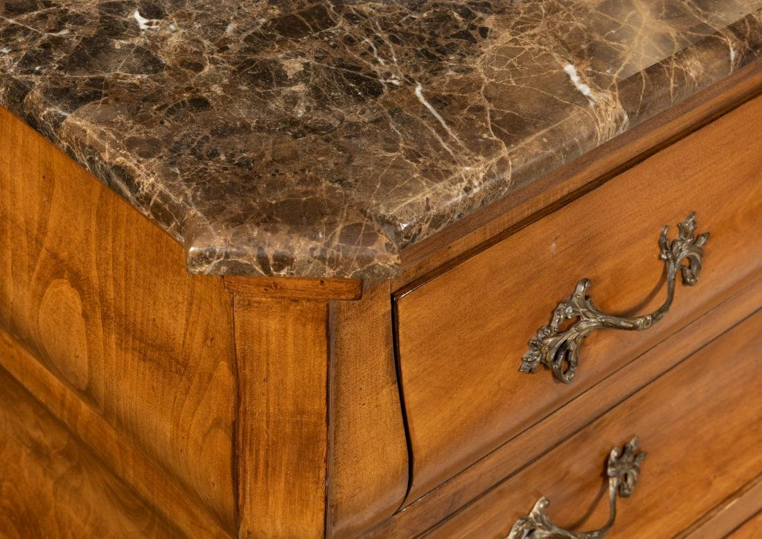 French Marble Top Chests - Pair - 3