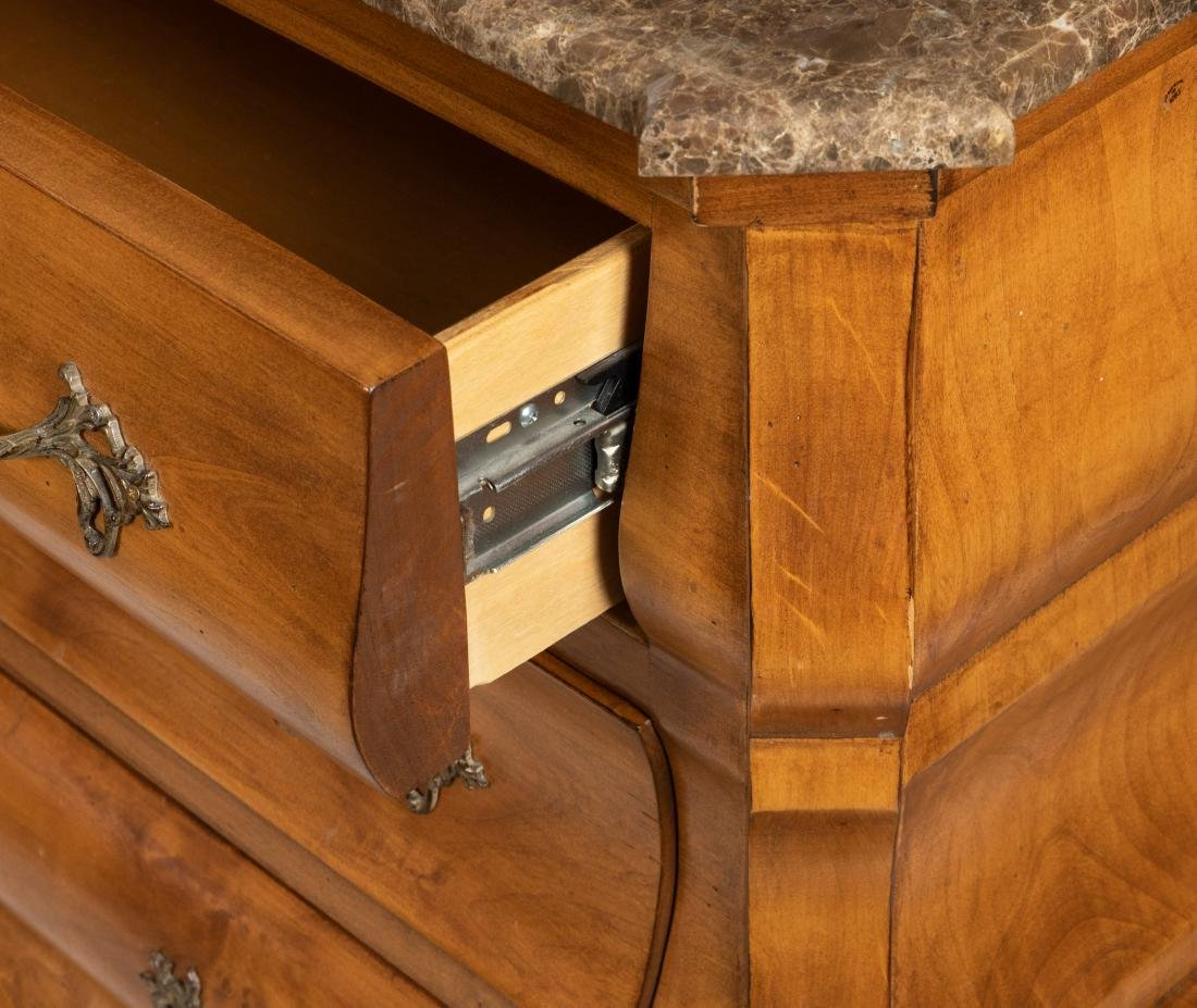 French Marble Top Chests - Pair - 4
