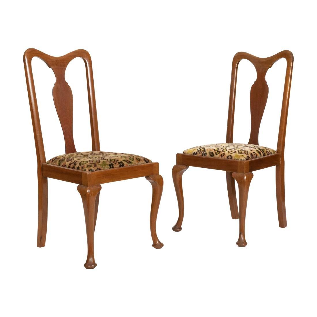 Queen Ann Side Chairs - Pair