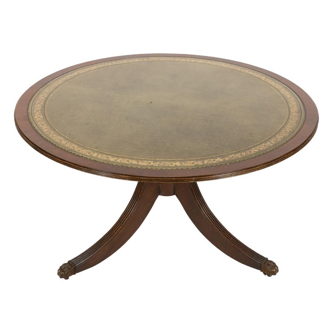 Leather Tilt Top Coffee Table