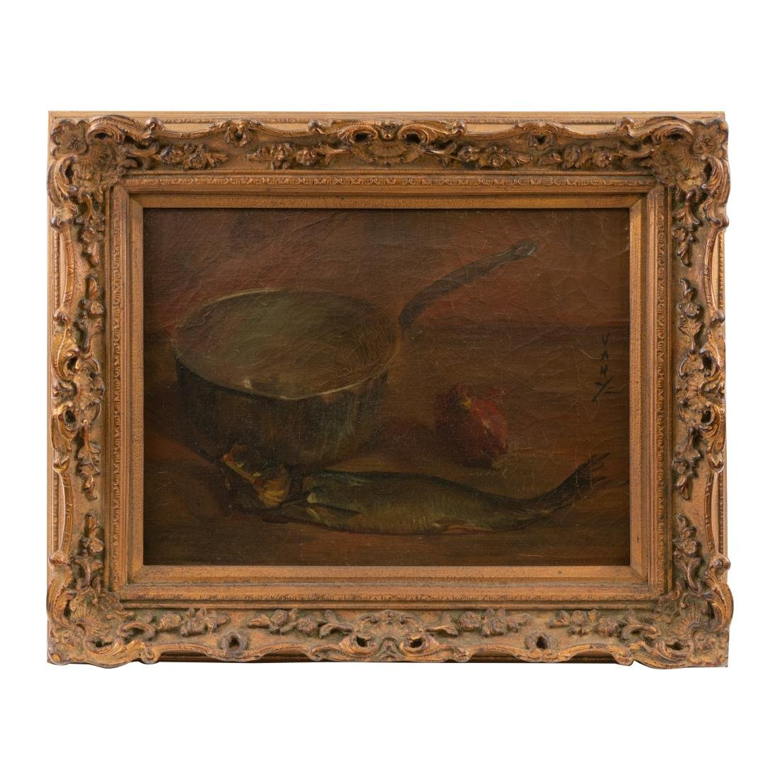 French Still Life - Oil on Canvas - Signed