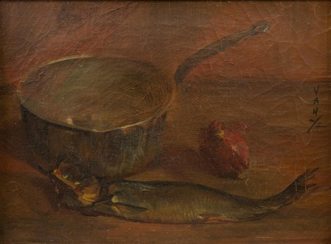 French Still Life - Oil on Canvas - Signed - 2