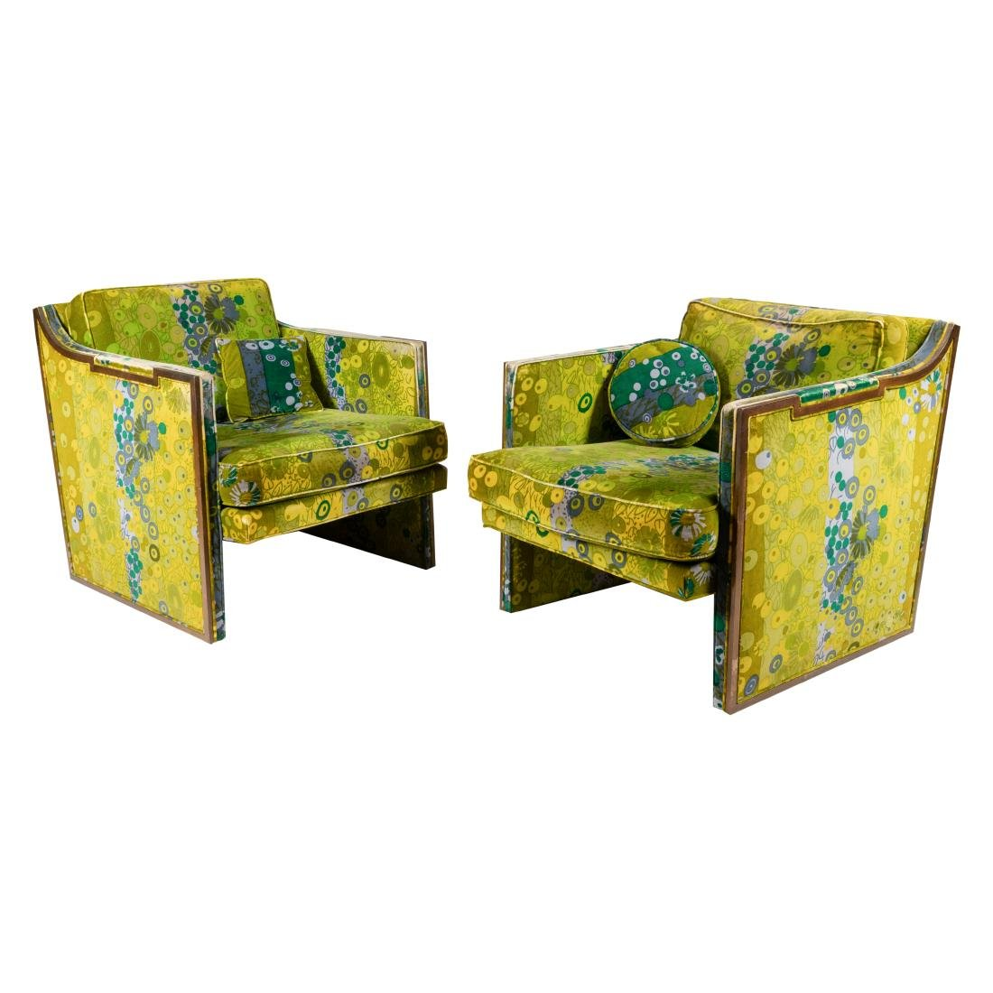 Mid Century Club Chairs - Jack Lenor Larsen