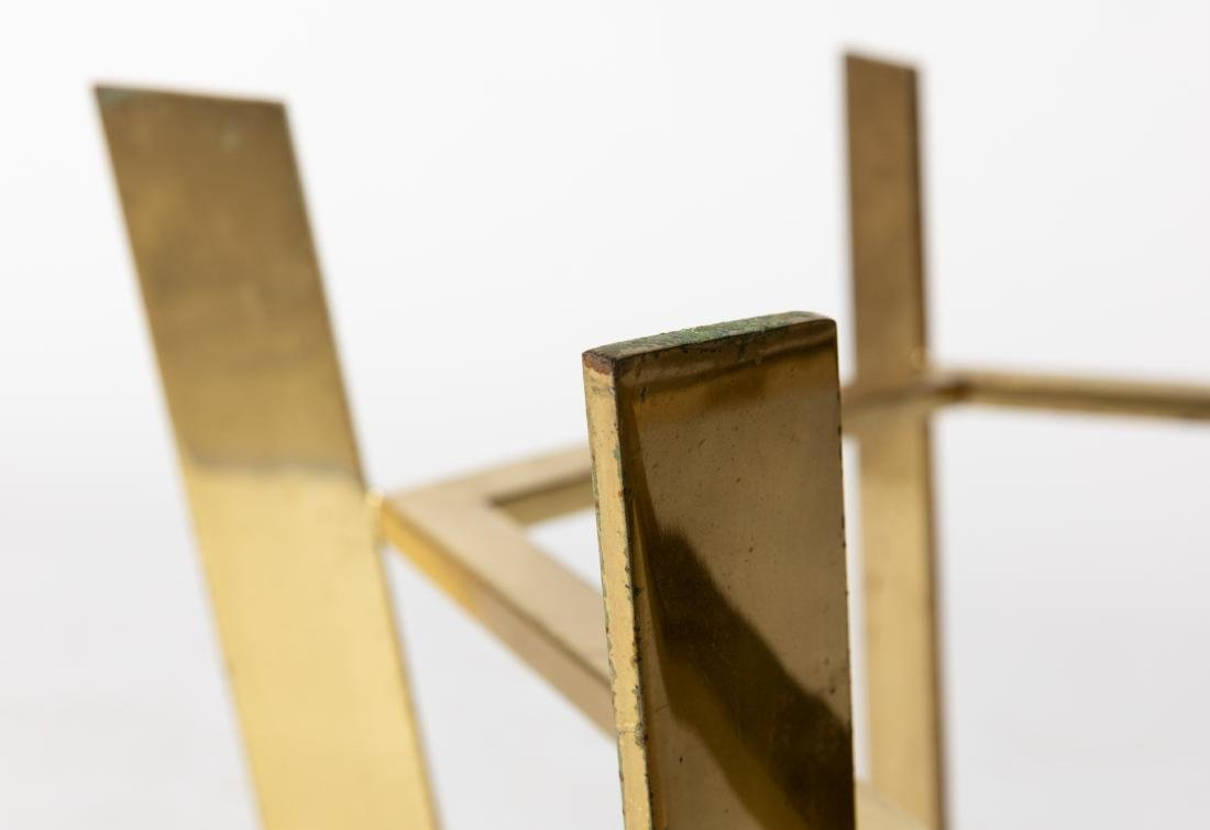 Octagonal Solid Brass & Glass Table - 3