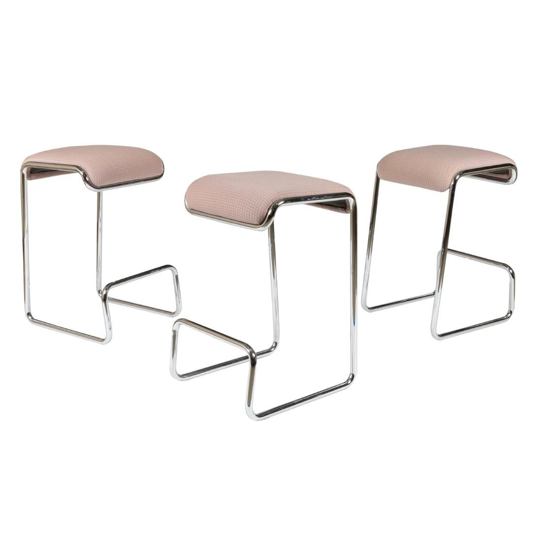 Chrome Cantilevered Bar Stools