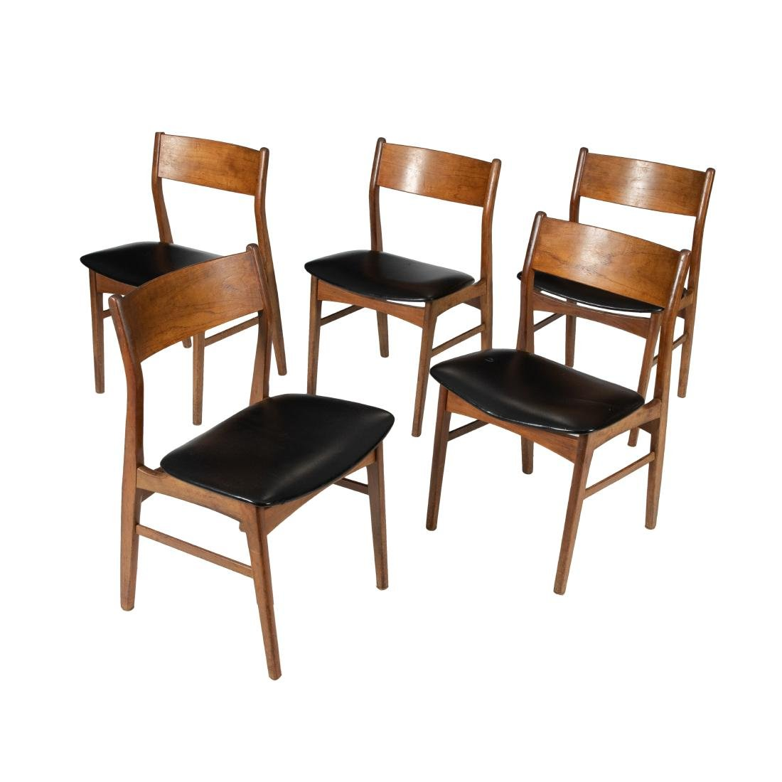Danish Teak Dining Chairs - Five