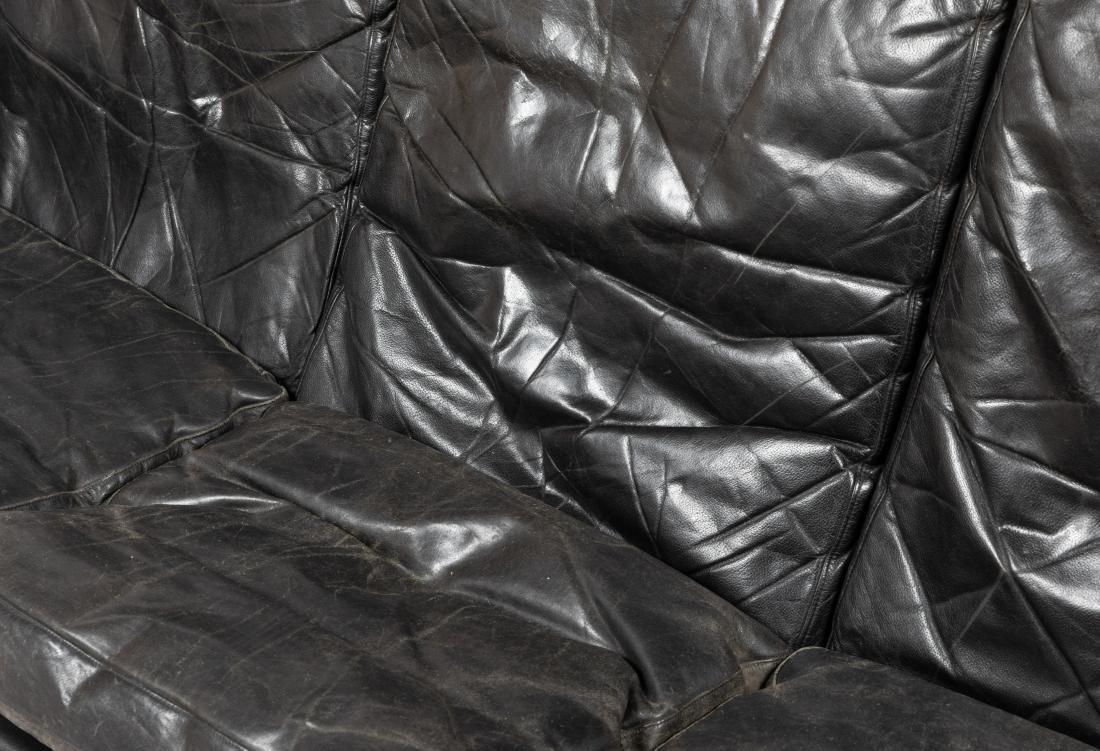 Danish Rosewood and Leather Sofa - 5