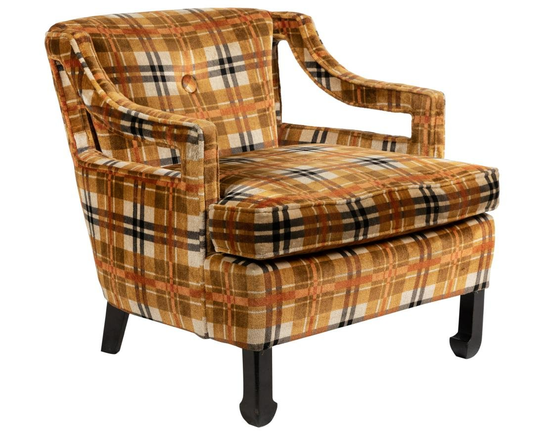 Milo Baughman Style - Upholstered Arm Chair