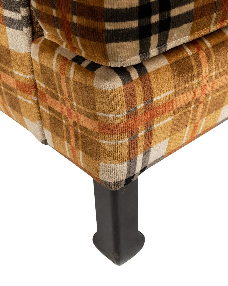 Milo Baughman Style - Upholstered Arm Chair - 2