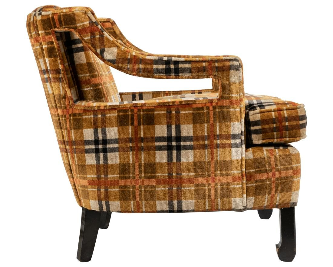 Milo Baughman Style - Upholstered Arm Chair - 3