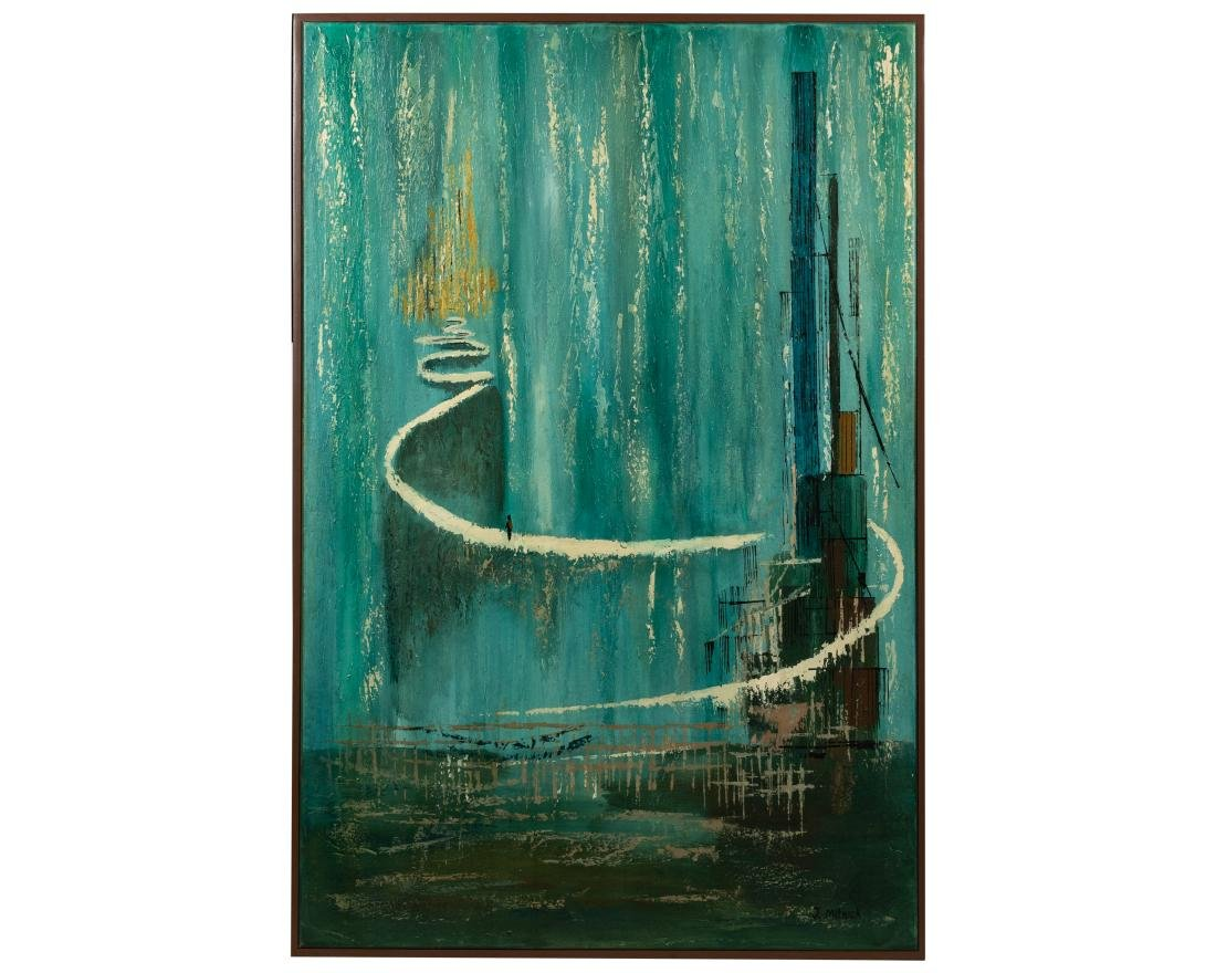 J. Mitnick - Oil on Canvas