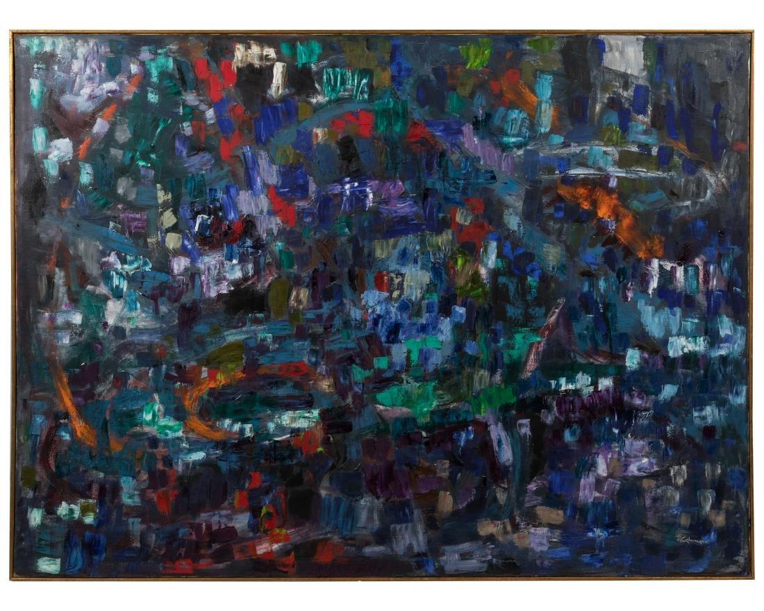 Ruth Cahnmann - Large Abstract Oil on Canvas
