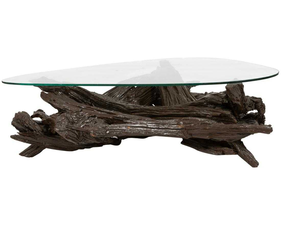 Driftwood Coffee Table On Liveauctioneers