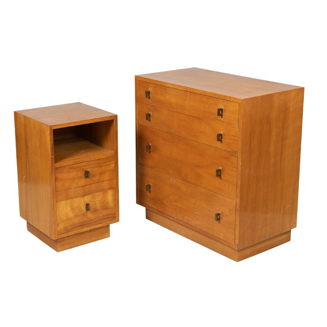 Mid Century Chest and Nightstand