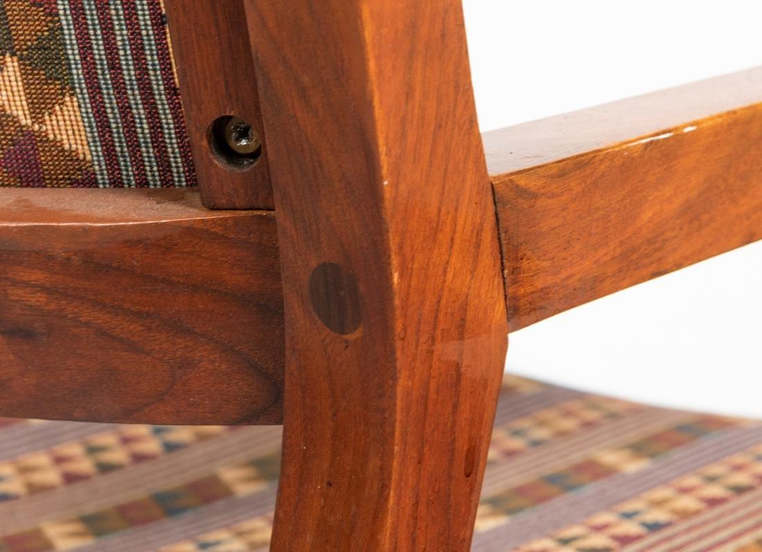 Walnut Armchairs & Ottoman - 3