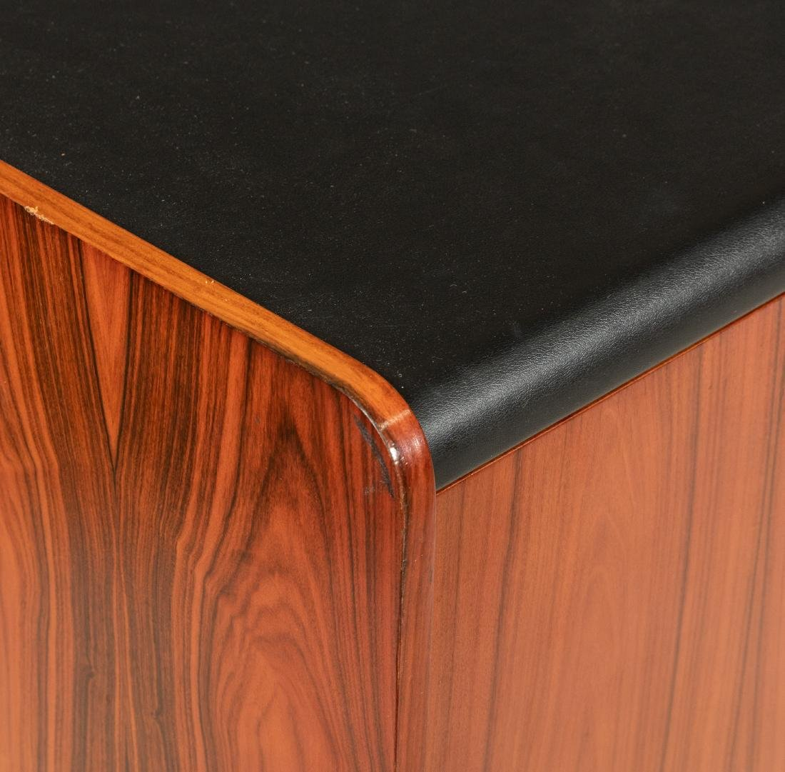 Cantilevered Faux Rosewood & Chrome Desk - 4