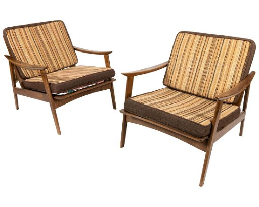 Phenomenal Paddle Arm Lounge Chairs Pair Caraccident5 Cool Chair Designs And Ideas Caraccident5Info