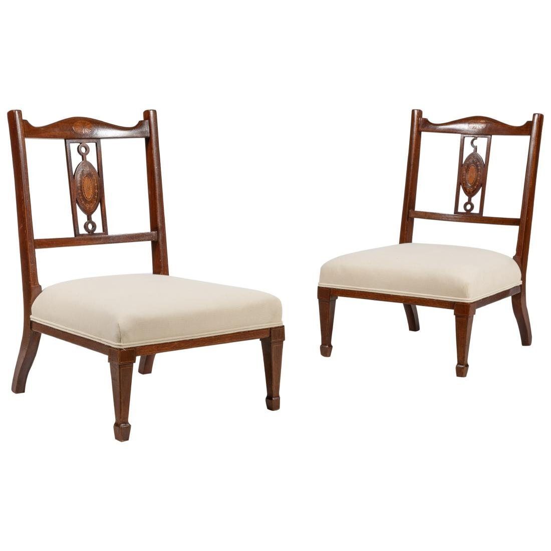 Edwardian Inlaid Child's Chairs