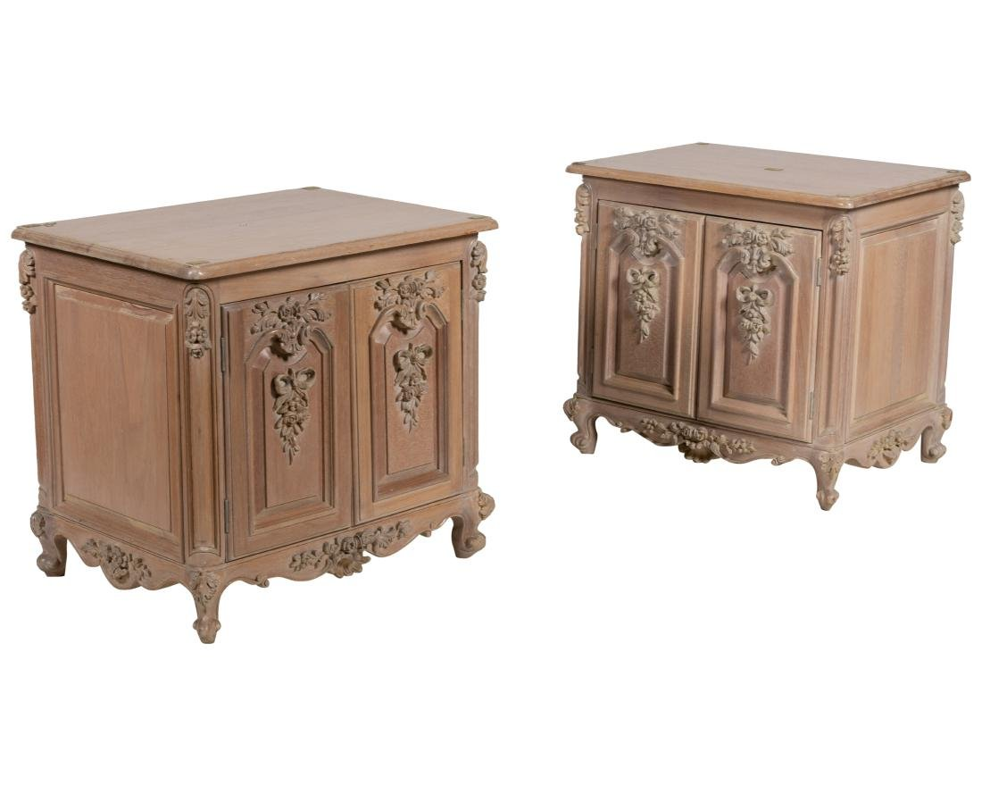 French Style Pickled Cabinets